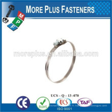 Fabriqué à Taiwan en acier inoxydable solides pinces en acier inoxydable pinces minces collier de serrage rapide
