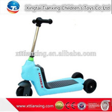2015 New Model Japanese Wholesale Cheap High Quality Adjustable Slipping Foldable Three Wheel Kids Two Footed kick Scooter