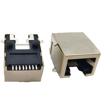 RJ45 SIDE ENTRY JACK SHIELD MIT GABEL
