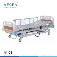 Cama de hospital médica manual AG-BY103 ajustable de 3 funciones