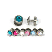 Superfície de aço inoxidável piercing jóias pele mergulhador corpo piercing