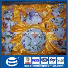 Элегантные столовые коллекции чайный набор Европа фарфоровый чайный сервиз, чайный сервиз сделано в Китае