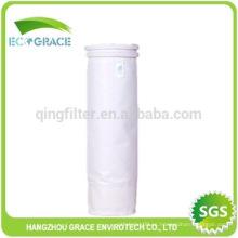 Filtro de polvo de tela de fieltro de aguja bolsa de filtración de PE