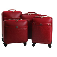 High Quality Luggage PU Trolley