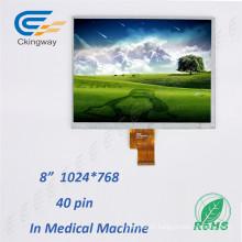 "8"" Resolution 1024*768 40 Pin LCD Display"