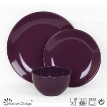 18PCS gres de color púrpura Glaze Dinner Set