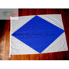100% poliéster losanje impreso banderas