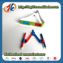 China Wholesale Plastic Compasses with 3D Red and Blue Glasses Toy