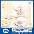 European popular wholesale new bone china porcelain tier cake stand fine dinner plates