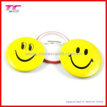 Insignia de botón de plástico personalizado con pin de seguridad