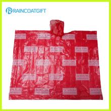 Promocional adulto Allover impresión PE Poncho de lluvia Rpe-003