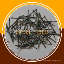 Glued steel fiber for underground powerhouse