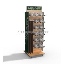 Starke, bewegliche, stabile, aus Metall, Holz, Slatwall, Gürtel, Hängen, Multi-Layer, Hut, Und Cap, Display, Stand,