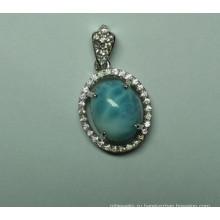 Природные Larimar стерлингового серебра моды ювелирных изделий Кулон (P0260)
