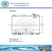 Aluminum Radiator For TOYOTA HIGHLANDER 04 1640020340 Manufacturer and Direct Sale