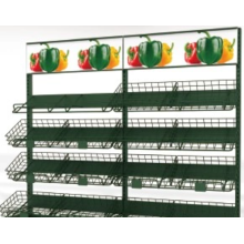 Fruit and vegetable shelf in the shopping mall