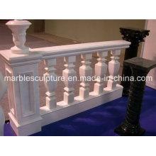 White Carrara Stone Sculpture Marble Stair Balustrade (SY-B009)