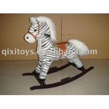 plush rocking horse(zebra), childern animal rider toy