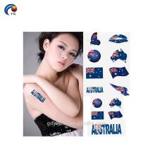 Autocollant de festival d'autocollant de tatouage de corps de drapeau national pour l'humain