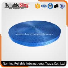 Cinturón de tejido de poliéster azul de 25 mm para correa de amarre
