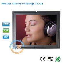 Resolução 1024X768 Monitor LCD de quadro aberto 4: 3 de 12,1 polegadas com conector VGA