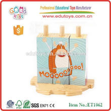 EN71 2015 newest and hot sale wooden educational cube puzzle toys