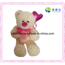 Plush Teddy Bear Toy with Red Scarf (XMD-F046)