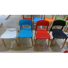 Wooden Leg Plastic Chair