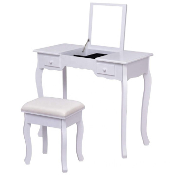 Multifunctional Writing Desk Mirrored Wooden Dressing Table
