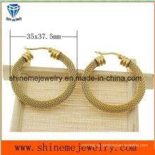 Shineme ювелирные изделия вакуумной Плакировкой золота серьги моды (ERS6964)