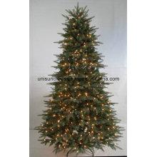 Pre-Deco árbol de Navidad colorido con luces LED en diferentes materiales (OEM de bienvenida)