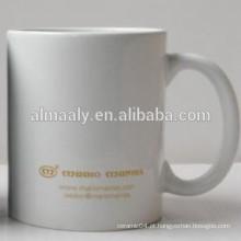 copo de café de grés branco
