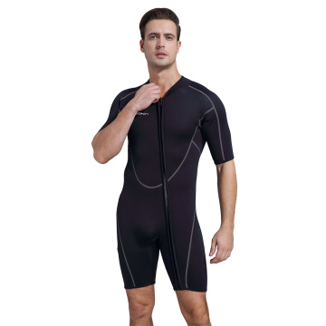 Seaskin Men Front Reißverschluss Shorty Diving Neoprenanzug