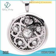 Кулоны-медальоны с новым филигранным замком, подвеска из чистого духа, серебро-медальон