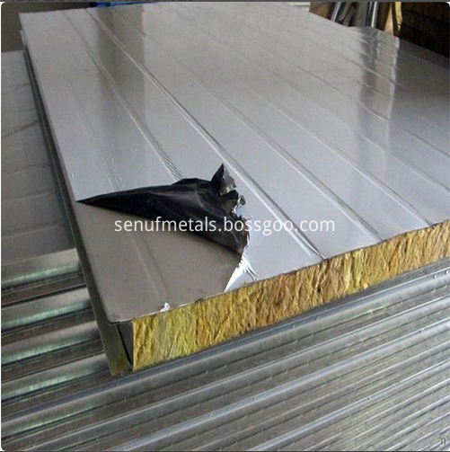 50 150mm Thickness Rockwool Sandwich Panel For Metal Wall Cladding System4
