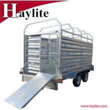 Heavy Duty Galvanized Steel Livestock Trailer Cattle Trailer for sales
