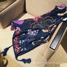 2017 usine prix en gros mode dame indienne style large pas cher coton infini écharpe