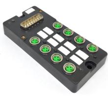 Boîte de distribution M8 avec connecteur DB15 préfabriqué