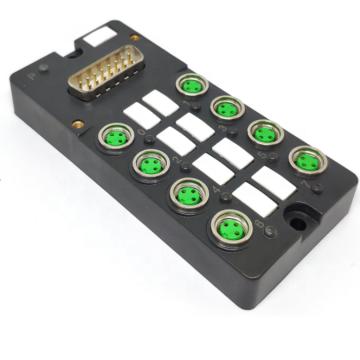Caixa de distribuição M8 com conector DB15 pré-moldado