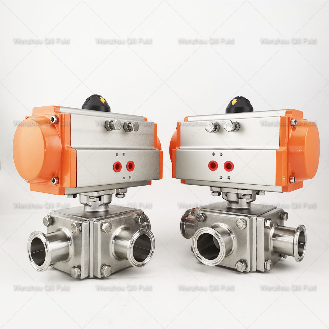 pneumatic three way ball valve (27)