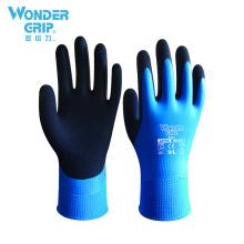 Wonder Grip Aqua Waterproof Oilproof WG-318 Latex Sandy Working gloves