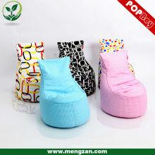 Venta al por mayor de tela de algodón de frijol bolsa sofá bean bolsa de silla en varios colores