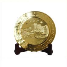 Customized gold bronze silver metal plates bali souvenir