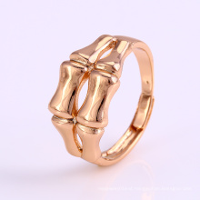 12235 New arrival simply fine ladies jewelry bone shaped gold plated finger ring