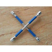 2015 новый синий резиновые Gripe отполированный крест обода гаечный ключ
