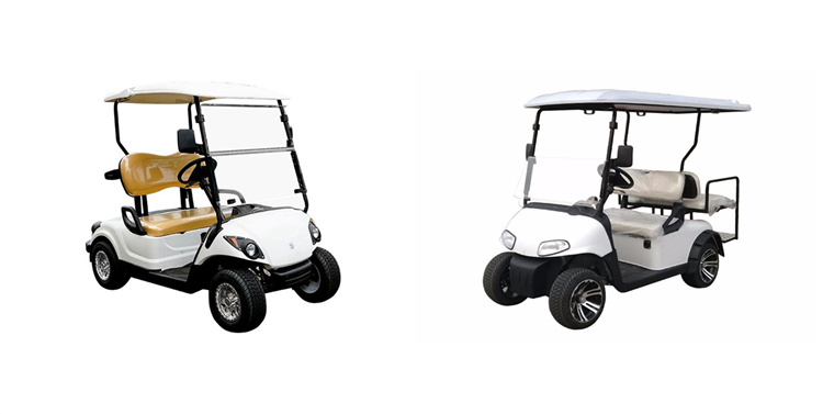 2 Seaters Golf Carts With 2 Rear Seats