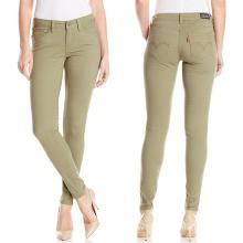 Fábrica OEM Mulheres Calças Cor Calças Casual Calças Vestuário Tintura Calças
