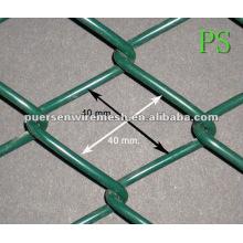 40 * 40 PVC beschichtete Kettenglied Sicherheit Zaunplatte Käfiggitter (Fabrik + Firma)