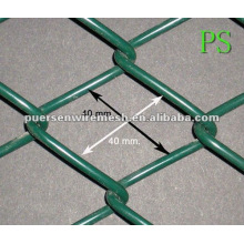 40 * 40 PVC Coated Chain Link Safety Fence panneau Cage mesh (Factory + Company)