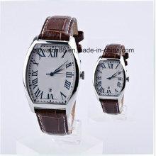 Relógios analógicos de par de amante de aço inoxidável para casal